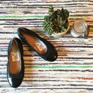Patent leather business casual flats